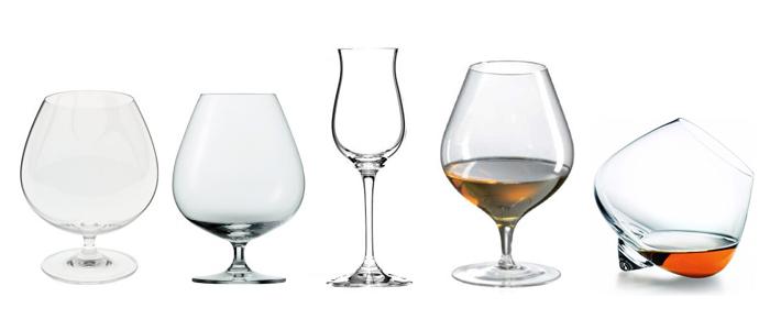 verschiedene Cognac Gläser