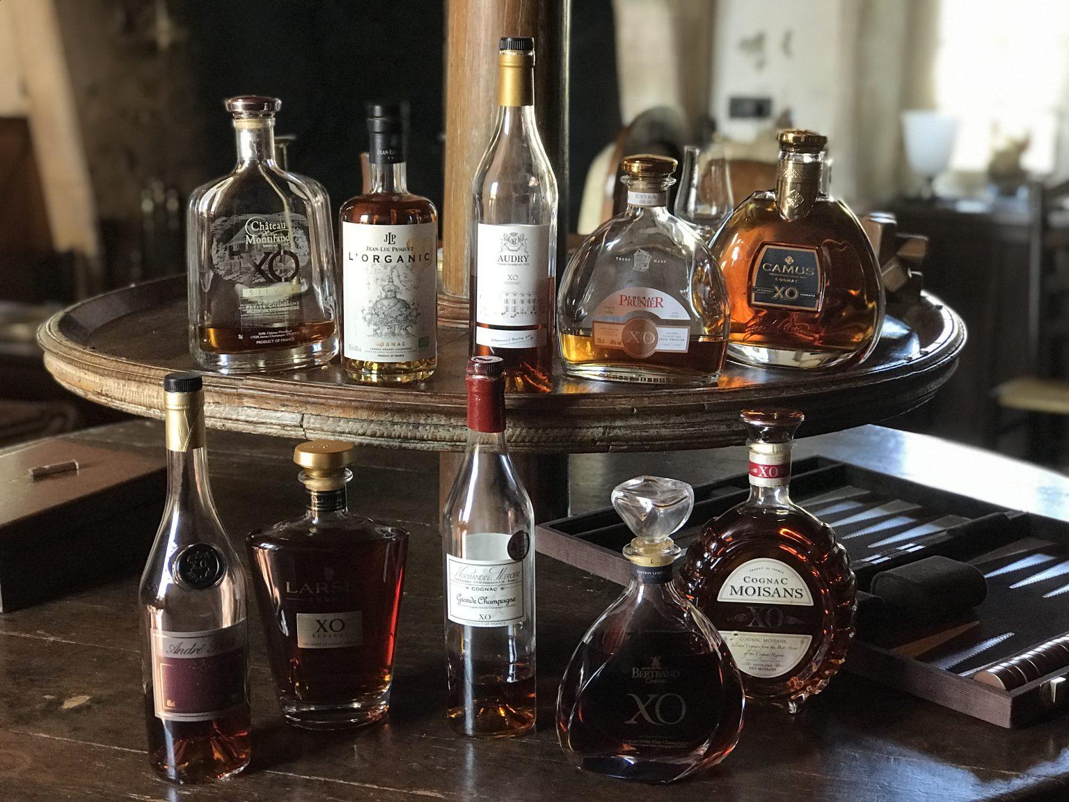 Ein Blick auf die 10 von uns verkosteten XO Cognacs
