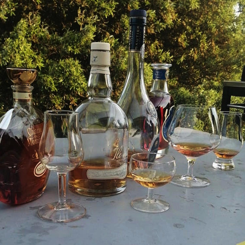 Verkostigung verschiedener Cognacs