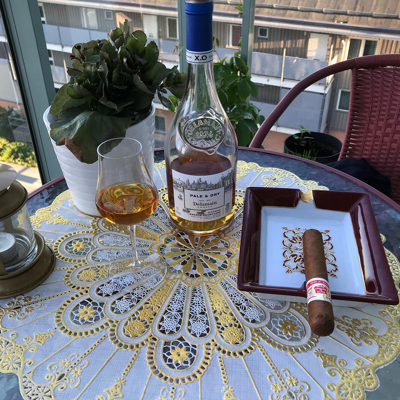 Delamain Cognac mit Zigarre
