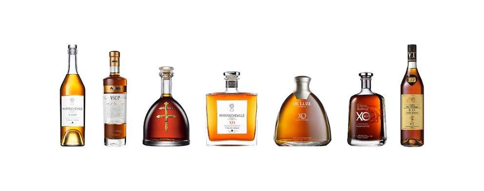 Auswahl milder Cognacs