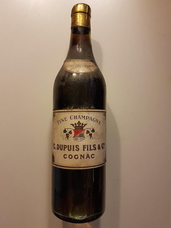Alte Flasche Vallein Tercinier Cognac